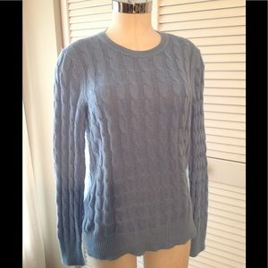 Gap cotton/nylon blend cable knit sweater, used